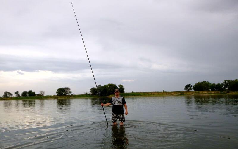 Angeln bei Niedrigwasser