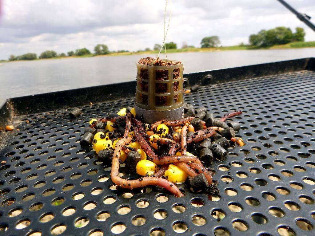 Großer Futterkorb für das Feederangeln im Sommer
